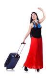 Ung kvinna som är klar för sommarsemester Royaltyfri Bild