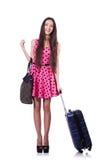 Ung kvinna som är klar för sommarsemester Royaltyfria Bilder