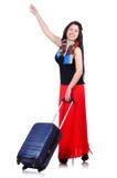 Ung kvinna som är klar för sommarsemester Royaltyfri Foto