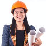 Ung kvinnlig arkitekt Royaltyfri Foto