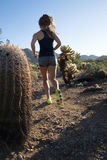 Ung kvinnlig konditioninstruktör Trainer Royaltyfri Foto