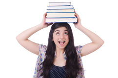 Ung kvinnlig student Arkivbilder