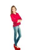 Ung latinsk flicka Arkivfoto