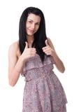 Ung lycklig kvinna Arkivfoto