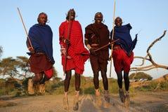 Ung Maasai krigare i Loitoktok, Kenya Fotografering för Bildbyråer