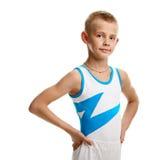 Ung manlig gymnast arkivfoto