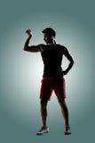 Ung manlig idrottsman nen royaltyfri foto