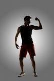 Ung manlig idrottsman nen fotografering för bildbyråer