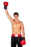 Ung manlig kickboxer Fotografering för Bildbyråer