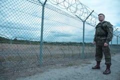 Ung manlig soldat Fotografering för Bildbyråer