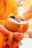 Ung munk som är ordinateds Royaltyfri Bild