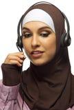 Ung muslimsk kvinna arkivbild