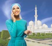 Ung muslimsk kvinna arkivfoton
