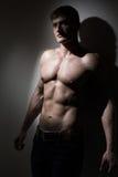 Ung naken stilig man fotografering för bildbyråer