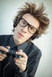 Ung nerd fotografering för bildbyråer