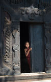 Ung novis i Mandalay Arkivfoton