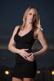Ung och härlig blond caucasian affärskvinna Royaltyfria Bilder