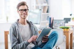 Ung och säker professionell arkivfoton