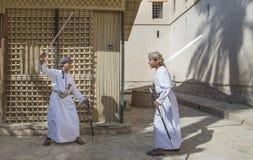 Ung omani pojke med ett svärd Royaltyfri Fotografi