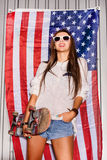 Ung patriot Fotografering för Bildbyråer