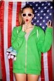 Ung patriot arkivfoton