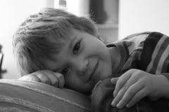 Ung pojke Fotografering för Bildbyråer