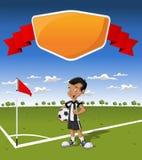 Ung pojke på fotboll Royaltyfri Foto