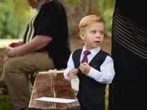 Ung pojke som kläs formellt Royaltyfri Foto