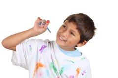 Ung pojkekonstnär Arkivbild