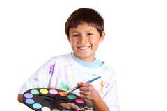 Ung pojkekonstnär Arkivbilder
