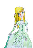 Ung prinsessa med guld- hår Royaltyfria Foton
