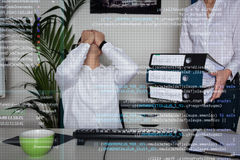 Ung programmerare Arkivfoto