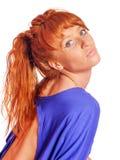 Ung redheadkvinna royaltyfri bild