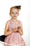 Ung söt flicka Arkivbild