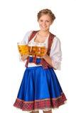 Ung sexig Oktoberfest kvinna Arkivfoton