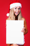 Ung sexig Santa kvinna Arkivfoto