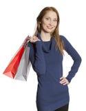 Ung shoppingkvinna Fotografering för Bildbyråer