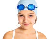 Ung simmareflicka Fotografering för Bildbyråer
