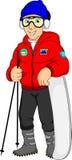 Ung skier Arkivfoton