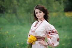 Ung slavisk flicka Arkivfoto