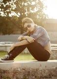 Ung sportig flicka Royaltyfria Bilder