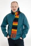 Man med scarfen Royaltyfria Bilder