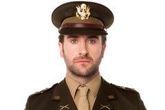 Ung stolt amerikansk officer royaltyfri bild