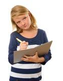 Ung student Arkivbilder