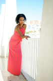 Ung svart kvinna, afro frisyr Royaltyfria Foton