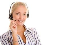 Ung telefonoperatör Fotografering för Bildbyråer
