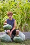 Ung trädgårdsmästare Arkivbild