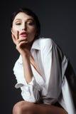 Ung ursnygg modell Fotografering för Bildbyråer