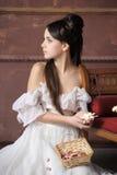 Ung victorianlady royaltyfri foto
