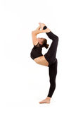 Ung yrkesmässig gymnastkvinna Arkivfoton